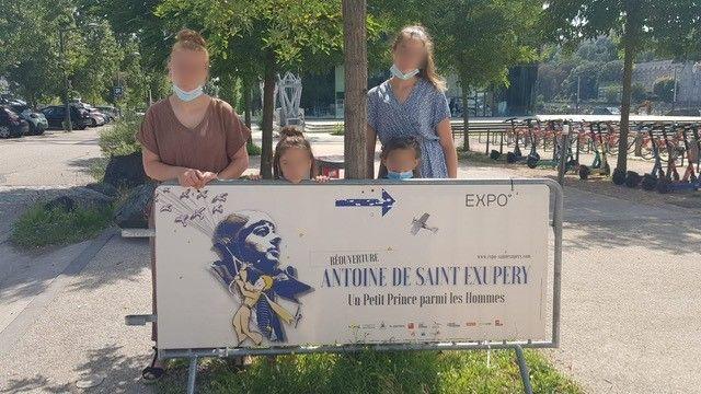 Les enfants de la Cité de l'Amitié à la rencontre d'Antoine de Saint-Exupéry